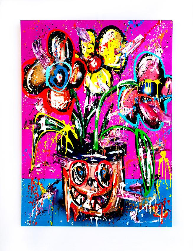 DARLINGTONIA CALIFORNICA, 2020, mixed media on canvas, 100x70cm
