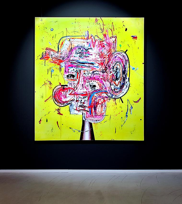 LIEBESTOLLER LIEBESTROLL, 2016, mixed media on canvas, 170x150cm