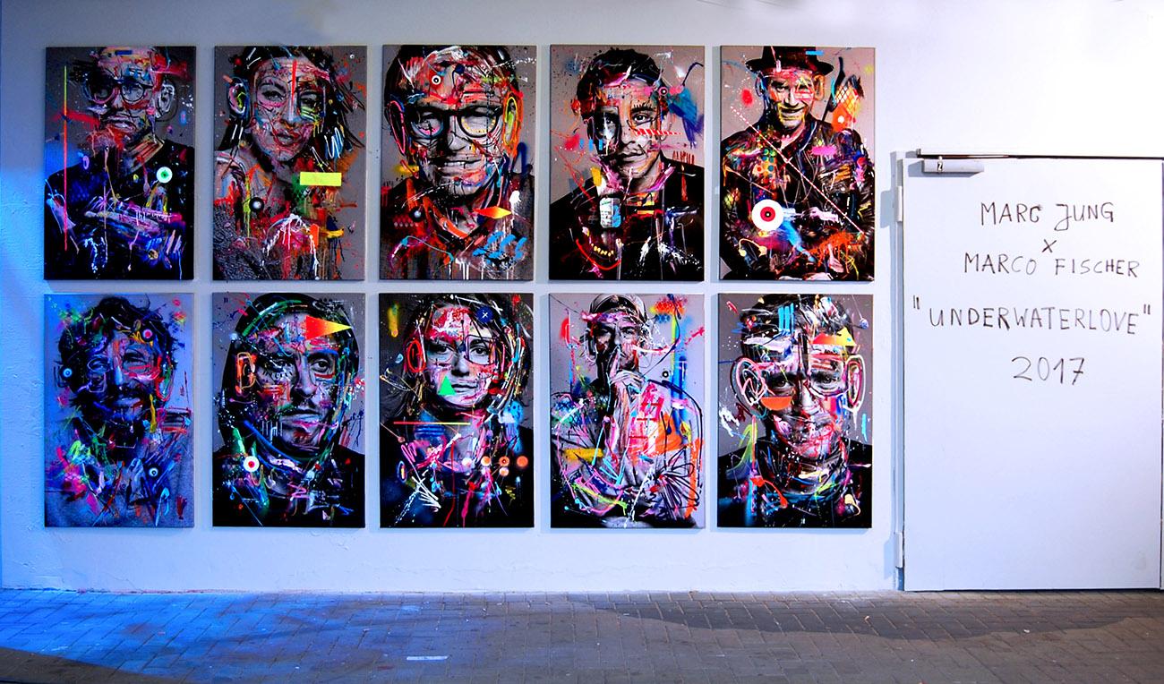 UNDERWATERLOVE, 2017, MARC JUNG X MARCO FISCHER X VIVA CON AGUA, Millerntor Gallery, St.Pauli Hamburg