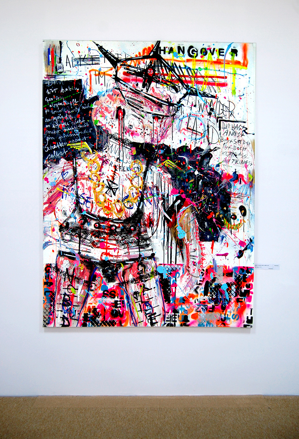 RONNY RAEUMT DEN LADEN AUF, 2013, mixed media on canvas, 200x150cm