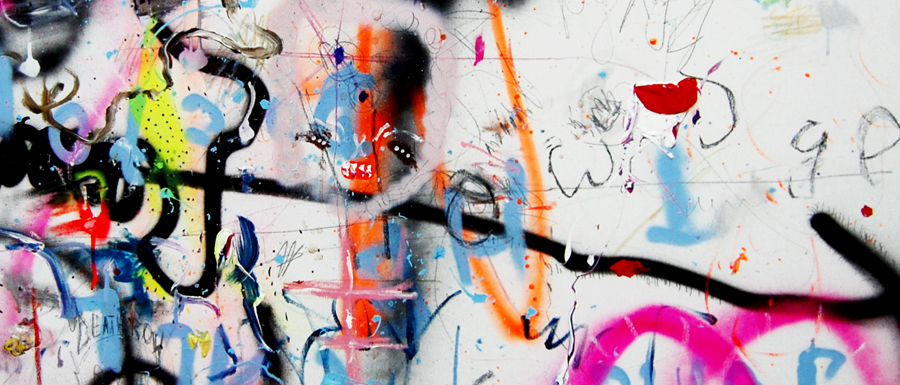 MENSCHLEUTE, 2011, mixed media on canvas, 90x120cm