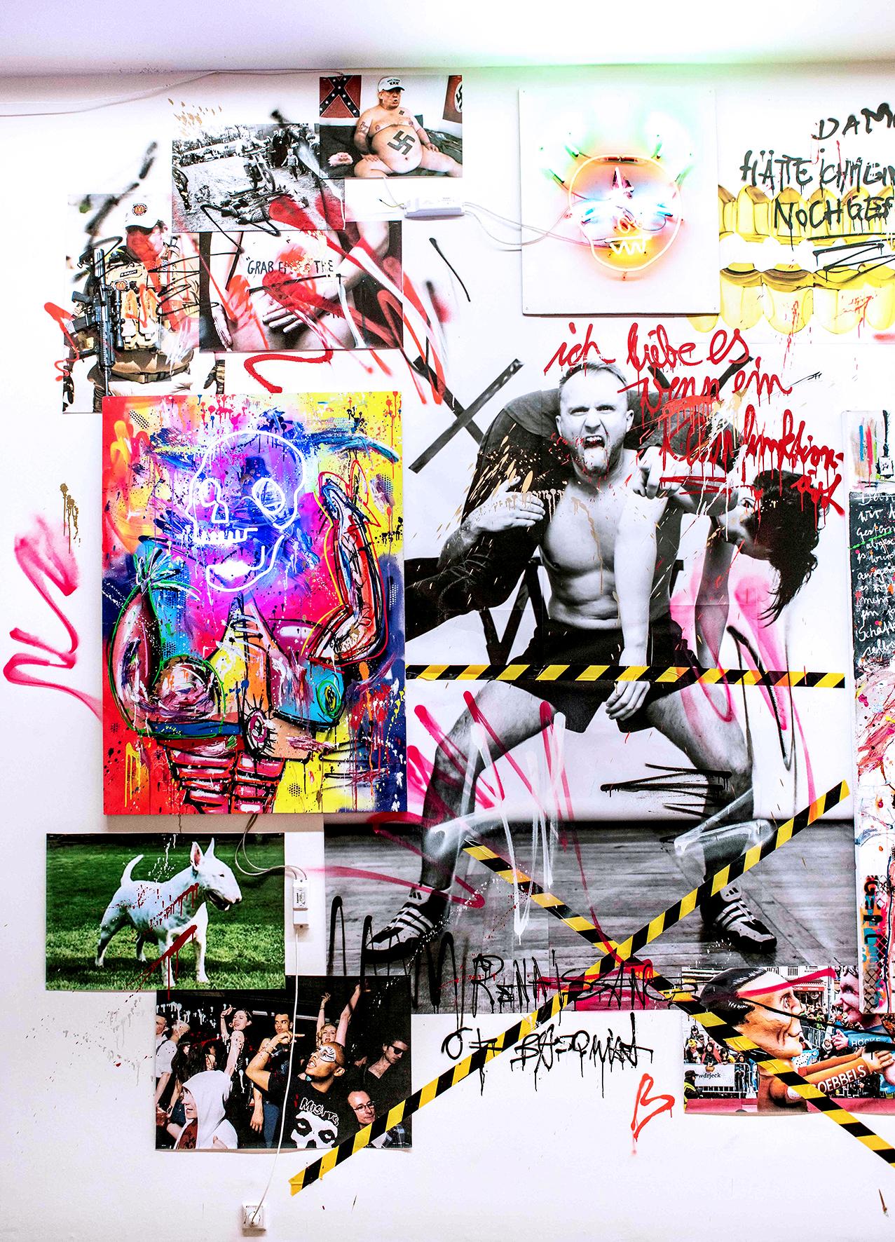Marc Jung, mixed media installation, 2019, 410x1100cm (detail)
