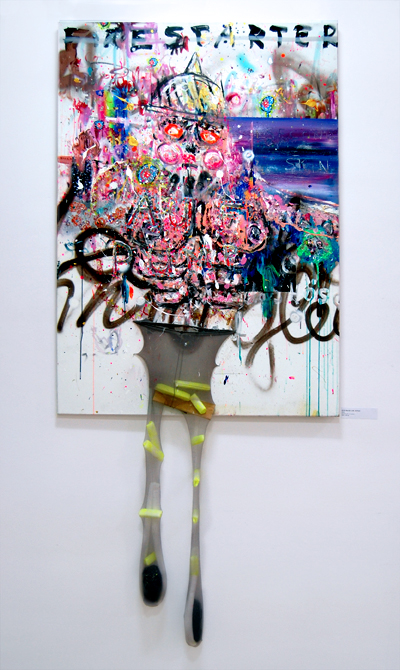 ICH MACH LOS JUNGS, 2010, mixed media on canvas, 140x100cm