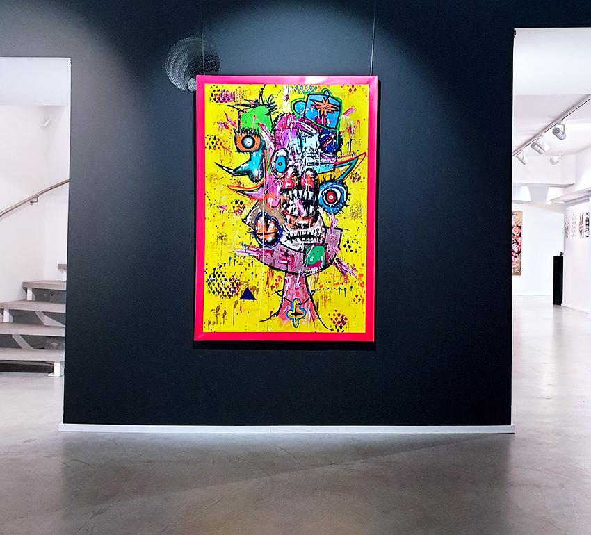 ICH WERDE LUKRATIV DIE ANDEREN MÜDE, 2019, mixed media on canvas, 150x100cm