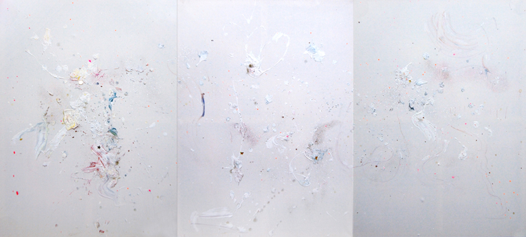 TODESSTERNIES, 2013, mixed media on canvas, 120x270cm
