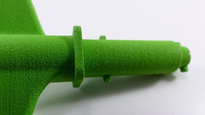 Prototyp im Rapid Prototyping Verfahren per SLS Lasersintern hergestellt und mittels RAL Farbton gefärbt | schnelle Lieferzeit von 3 Arbeitstagen realisiert