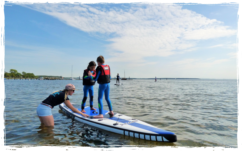 KIDS Stand Up Paddling im SUP Kurs Ostsee