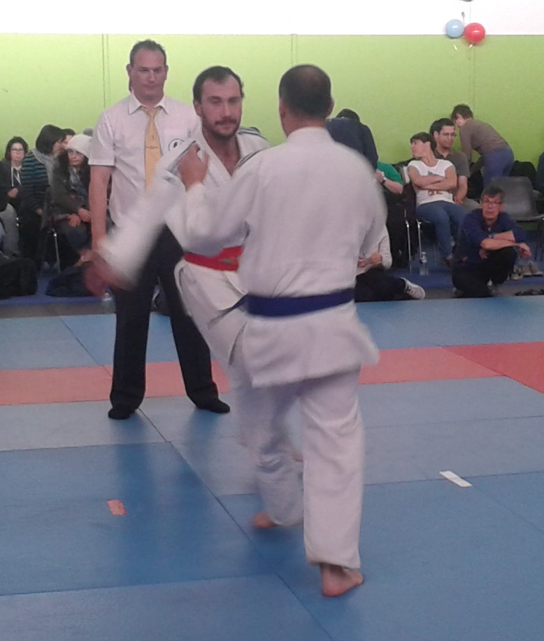 Championnat Interrégional Judo Occitanie,Christopher pendant un combat
