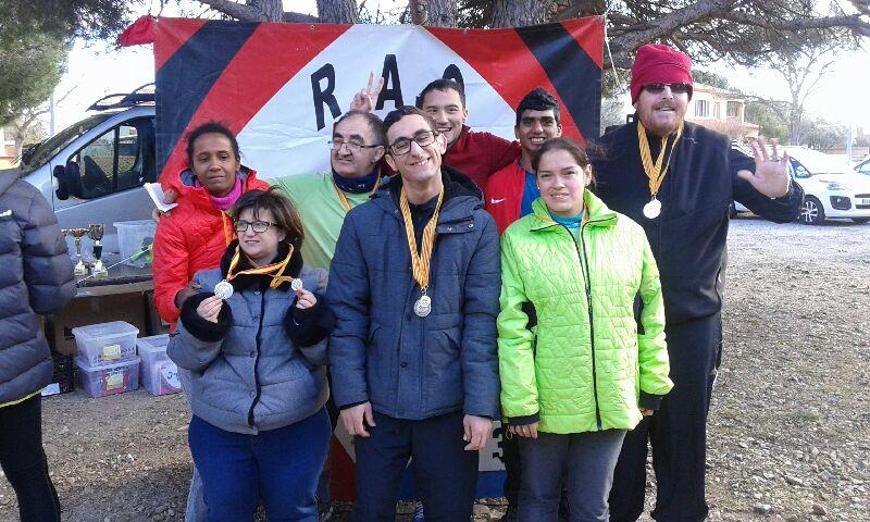 Dimanche 27 janvier, 10 de nos sportifs ont participé au cross départemental à  St Estève.