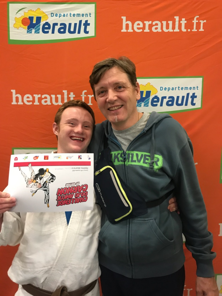 Championnat Interrégional Judo Occitanie,Lucas et son papa