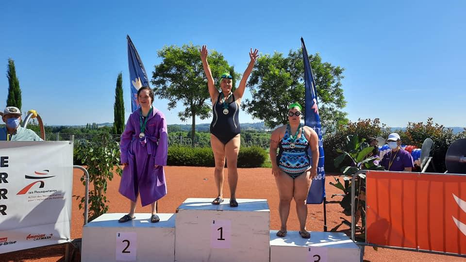 Lucie Championne de France 50 m brasse !....encore trop forte!