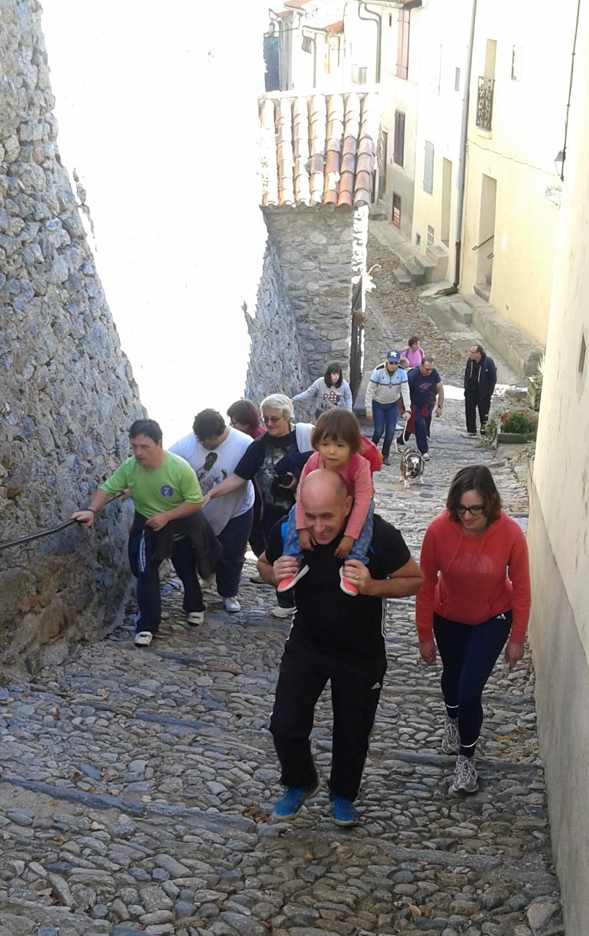 Journée sportive handi-valide à Prats de Mollo, octobre 2017