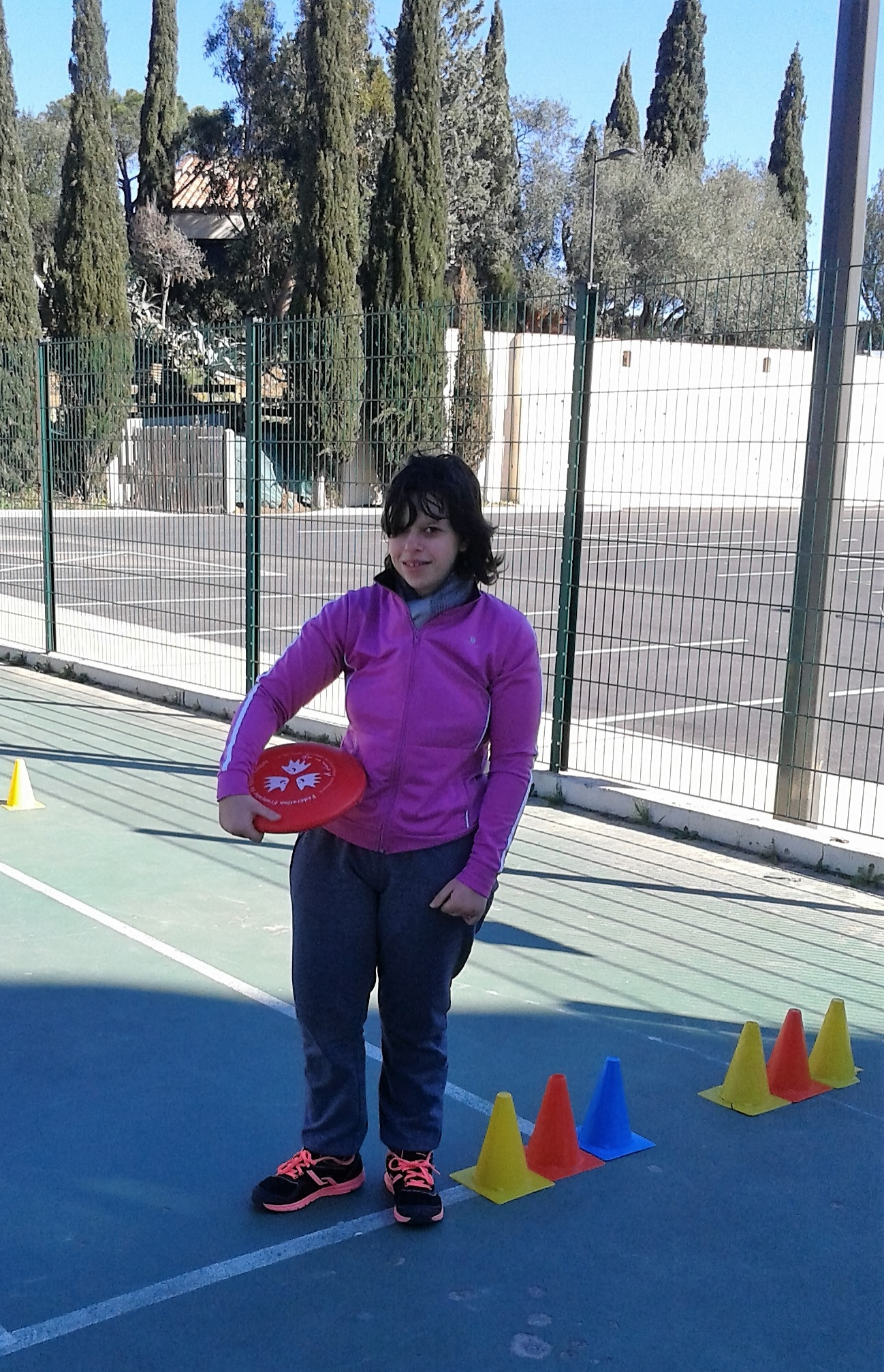 Frisbee avec Lucie.
