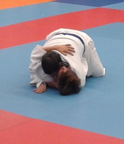 Championnat Interrégional Judo Occitanie,Mumu pendant son combat.