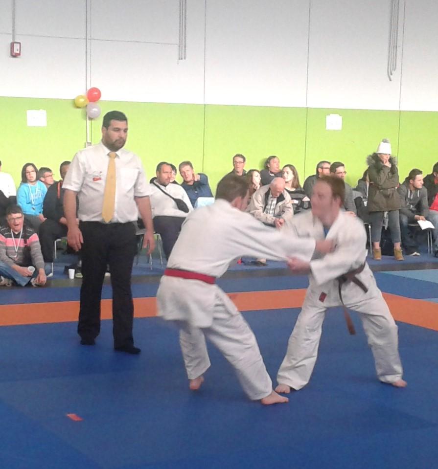 Championnat Interrégional Judo Occitanie,Lucas pendant un combat