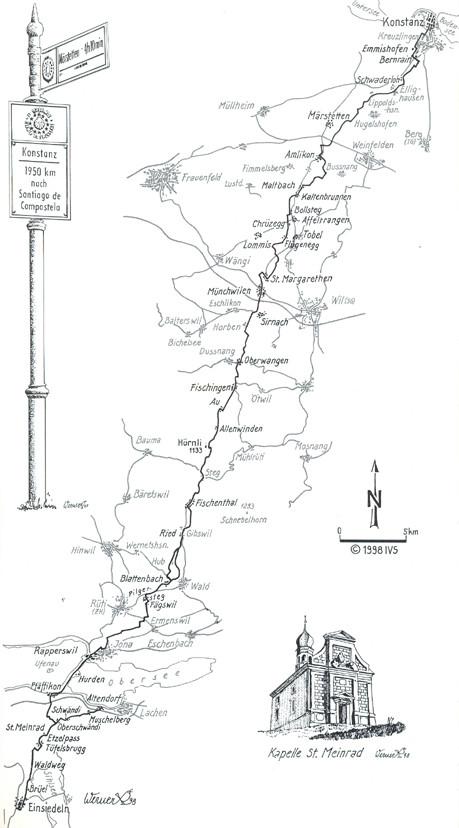 Quelle: ViaJacobi Auf Pilgerspuren die Schweiz entdecken, ott verlag, ISBN 978-3-7225-0114-7