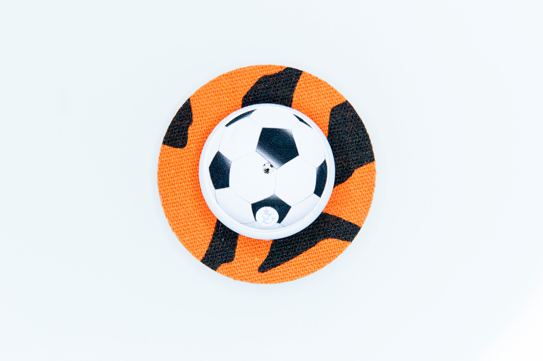 """Freestyle Libre tape """"round tiger"""" (with hole) and sticker """"football"""""""