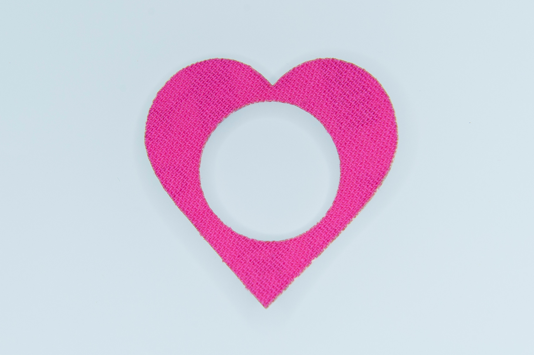 Freestyle Libre tape heart (with hole)