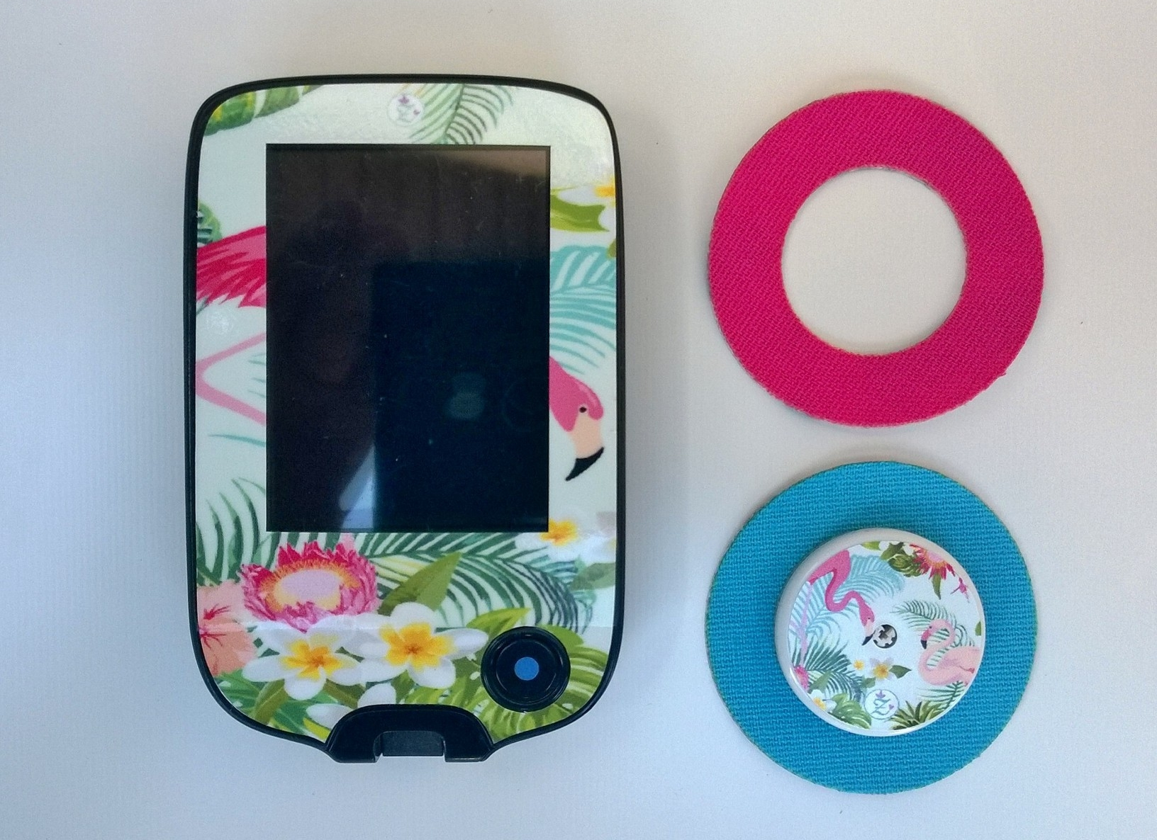 Freestyle Libre stickers for reader + sensor + tape round (with hole)