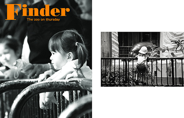 "Cover and Back cover of ""Finder"" trial product ""The zoo on thursday""  2005"