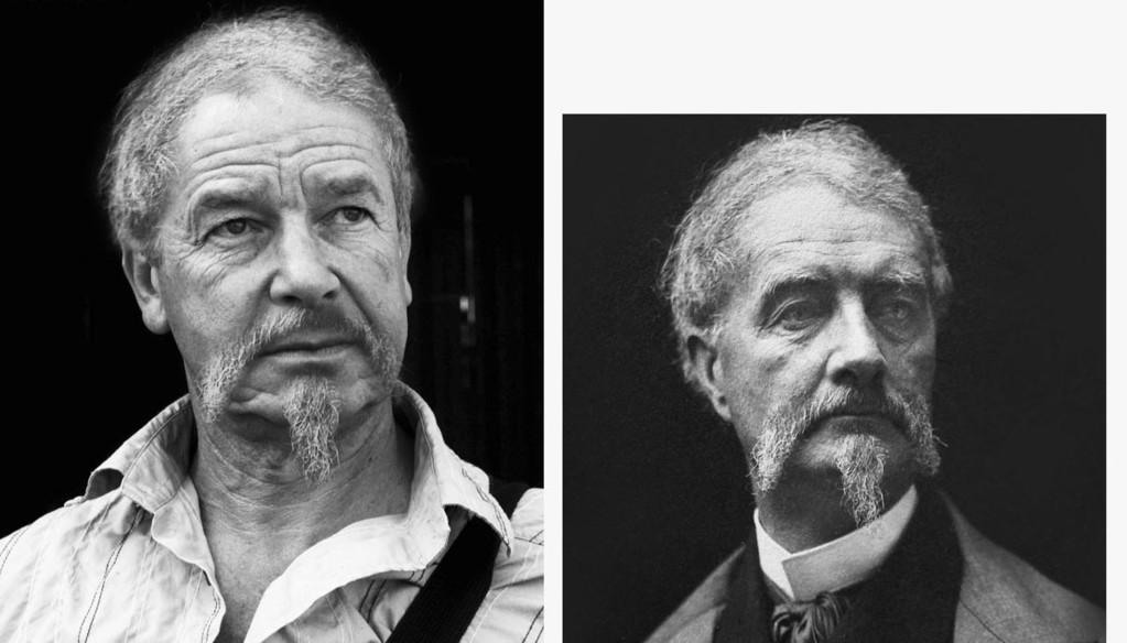 A gauche, l'acteur Jacques Perrault / à droite, Henry Russell