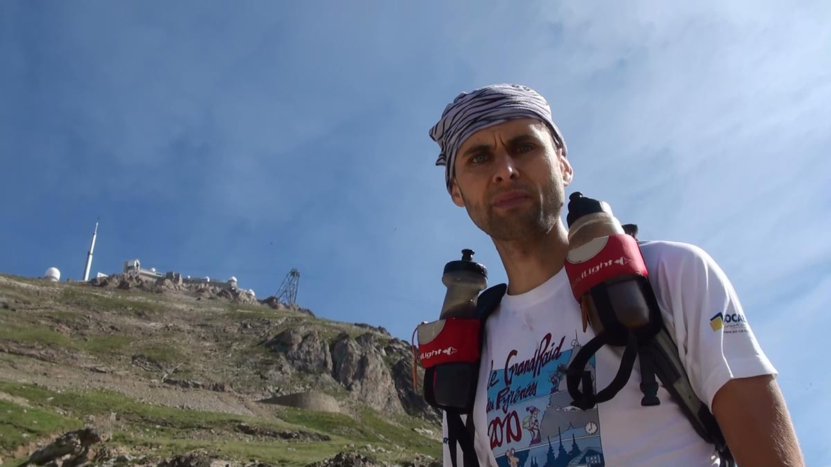 Laurent Facile sur le Grand Raid des Pyrénées