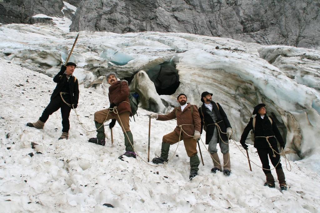 Dans les séracs du glacier des Oulettes