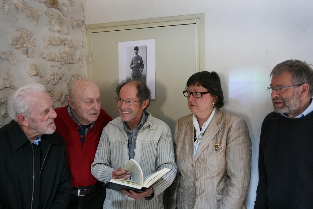 Notre réalisateur entouré  de  Gérald Robach, Sylvio Trévisan, Monique Dollin du Fresnel