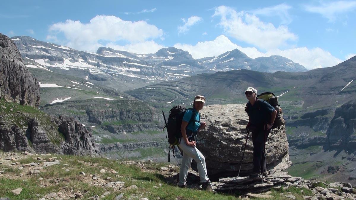 Une faja débouchant face au Mont Perdu
