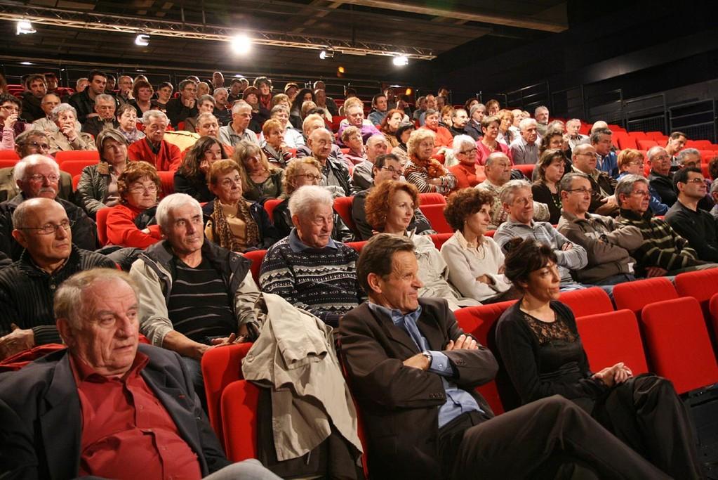 Une des projections agenaises, Espace Mitterrand à Boé