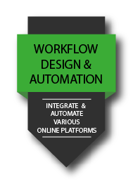 Workflow design & automation: Integrate, automate various online platforms