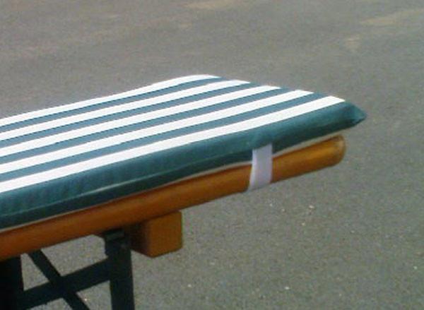 Anwendungsbeispiel Garten/ Terasse / Polsterung der Sitzmöbel