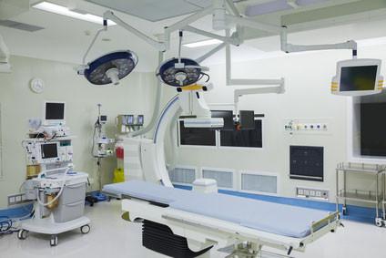 Anwendungsbeispiel Auflagen für Operationsliegen
