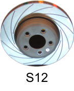 Directional Grooved / Slotted Brake Discs - Znoelli S12
