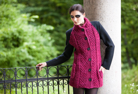 #Mantel, #coat #schwarz #black coat #bordeaux, #knit #knitwear #Strick