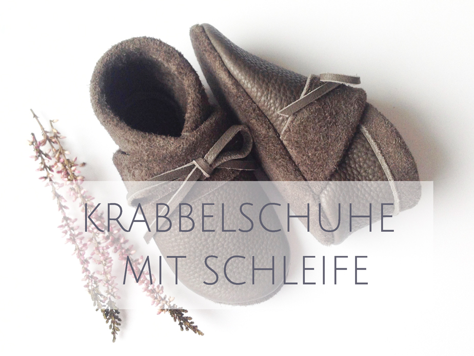 Krabbelschuhe mit Schleife
