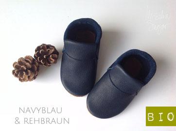 "Mokassins ""Classic"" in navyblau & rehbraun ab 39,40€"