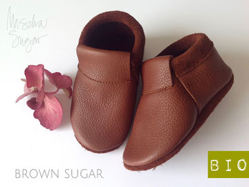 "Mokassins ""Classic"" in brown sugar, ab 39,40€"