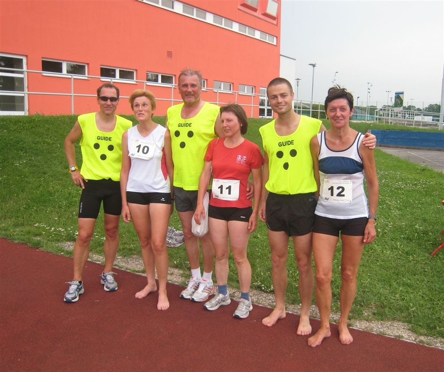das Team aus OÖ (Erni, Vroni, Anni in Begleitung von Siegfried, Leo, Daniel) vlnr