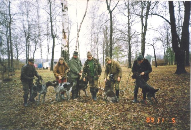 Первые участники испытаний по кровянному следу