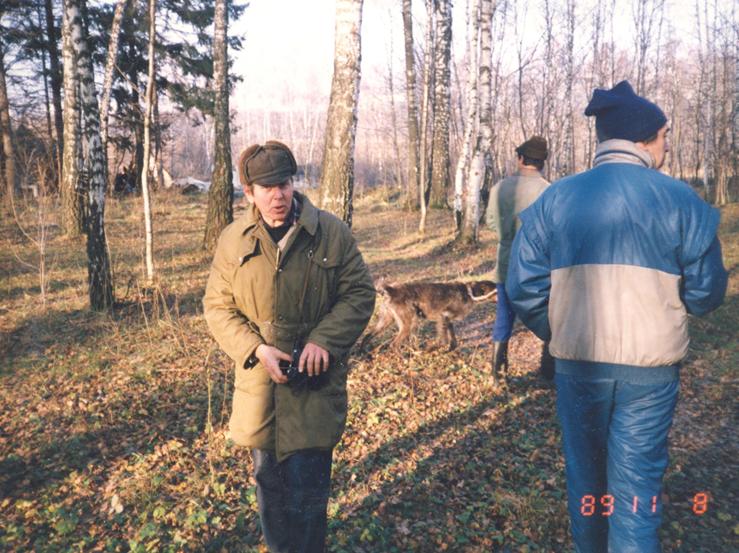 В Ясенево тренировка собак организованна Берманом С.Л.по кровяному следу