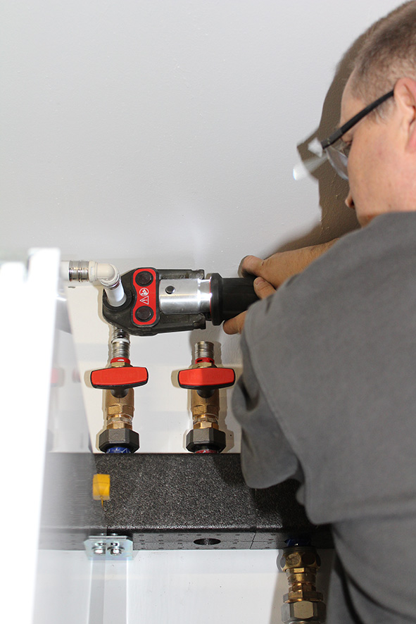 Installation Wärmepumpe