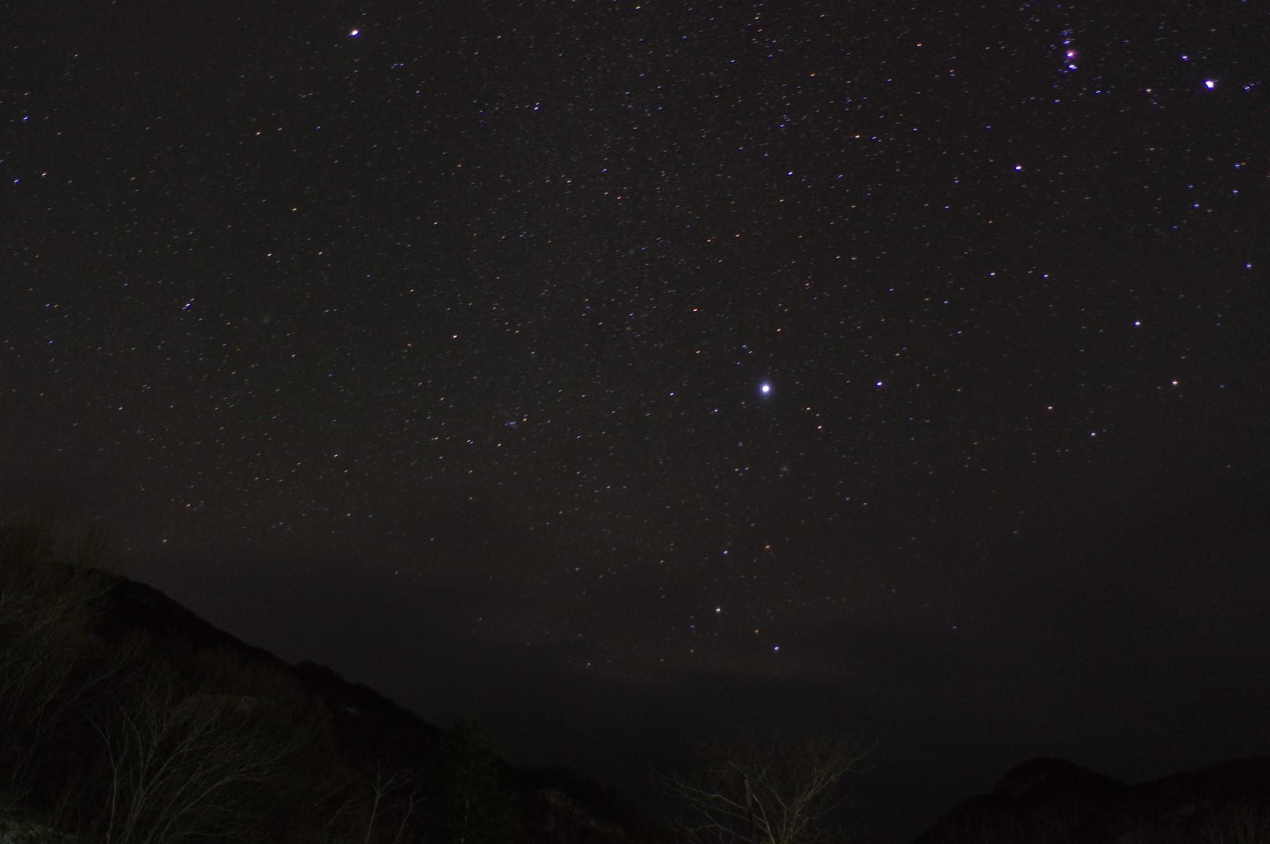 宮内温泉から観る星空