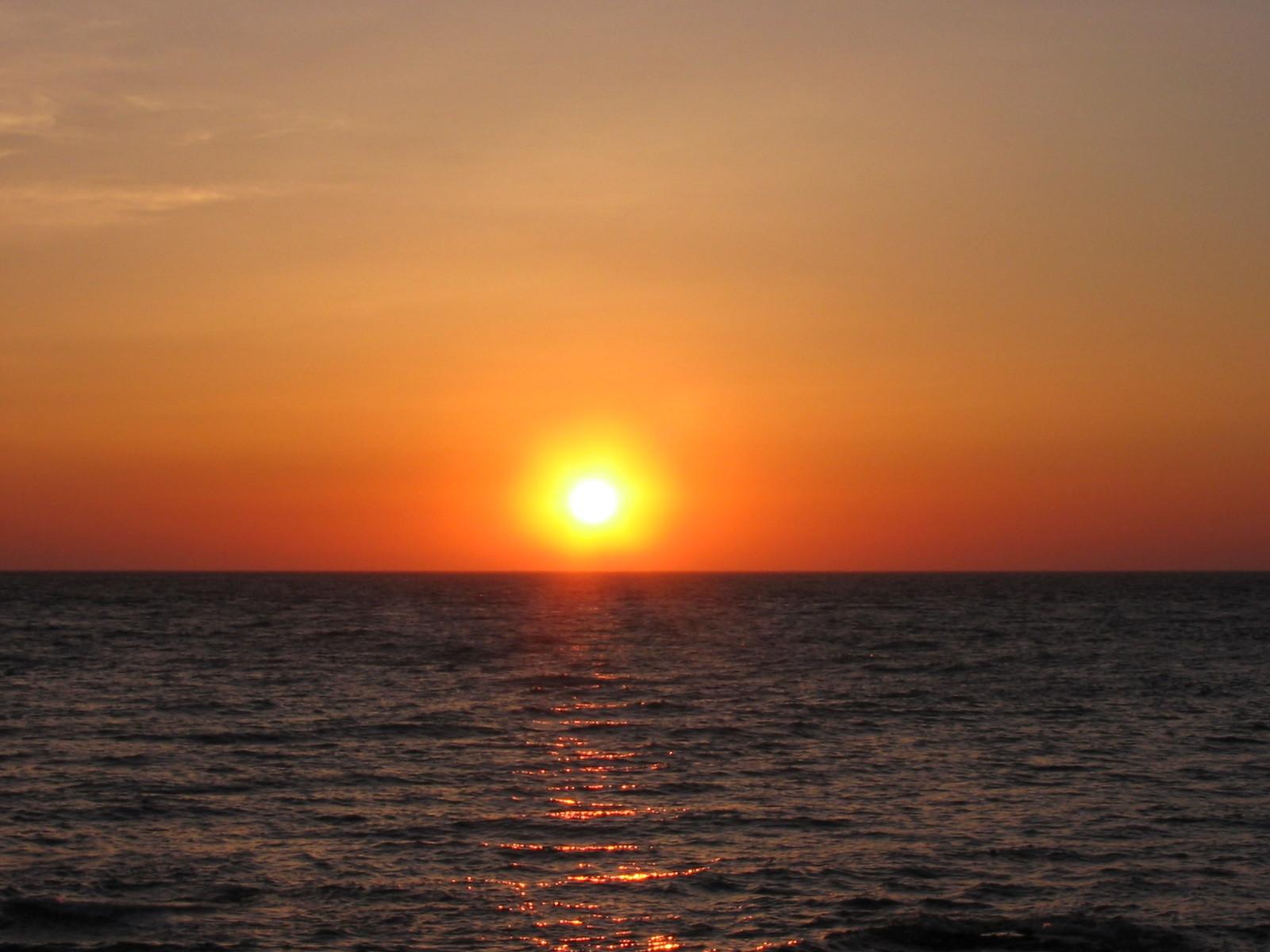 島牧の夕日
