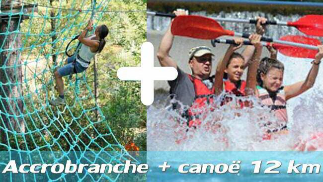 Pack accrobranche + canoë 12 km