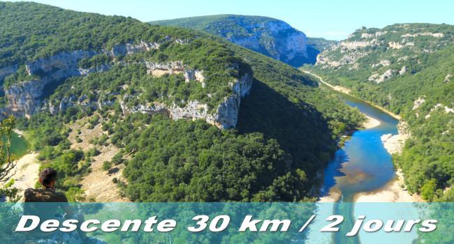 Descente des gorges de l'Ardèche en 2 jours
