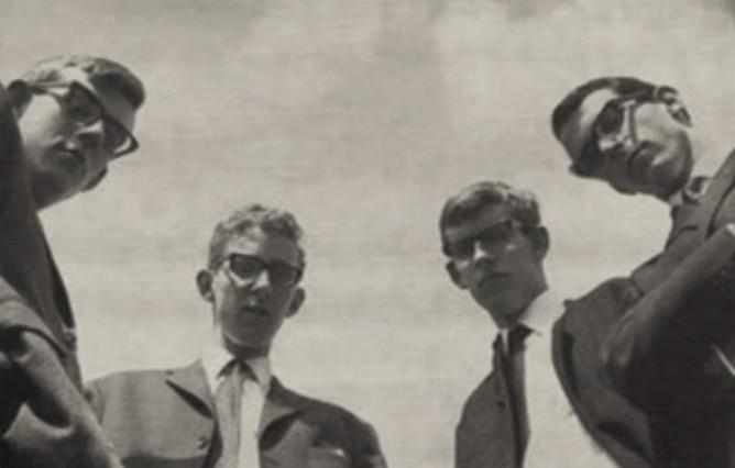 v.l.n.r. Jan Bronzwaer, Hans Gadiot, Frans Bronzwaer, Frans Moers,