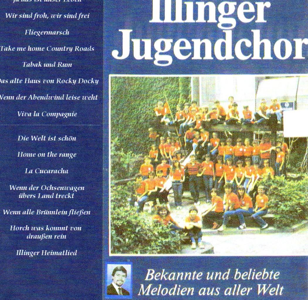 """Cover 2.LP """" Illinger Jugendchor""""1987 """"bekannte und beliebte Lieder aus aller Welt"""
