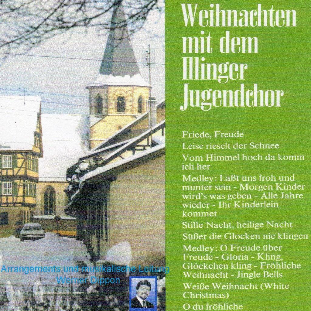 """Cover 1. LP  """"Weihnachten mit dem Illinger Jugendchor""""1982"""
