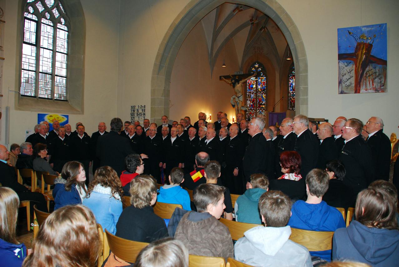 Goldene Konfirmation JG 48/49 Cyriakus-Kirche Illingen 17.03.2013 Ständchen MPC2000